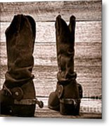 The Lost Boots Metal Print