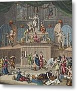 The Lottery, Illustration From Hogarth Metal Print