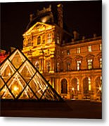 The Louvre At Night Metal Print