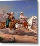 The Love Chase Metal Print