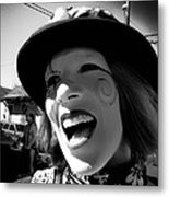 The Lovely Elly On Mardi Gras Day 2009 Metal Print