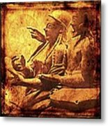 The Loving Etruscan Couple Vanished Civilisations Metal Print