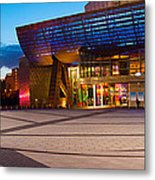 The Lowry Complex At Dusk, Salford Metal Print