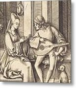 The Lute Player And The Singer Metal Print