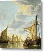 The Maas At Dordrecht Metal Print by Aelbert Cuyp