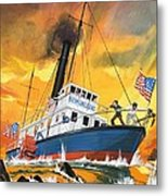 The 'madmen' Of The Mississippi Metal Print by English School