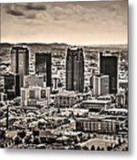The Magic City Sepia Metal Print