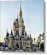 The Magic Kingdom Castle On A Beautiful Summer Day Metal Print