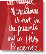 The Magic Of Christmas- Greeting Card Metal Print