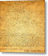 The Magna Carta 1215 Metal Print