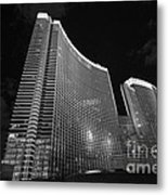 The Magnificent Aria Resort And Casino At Citycenter In Las Vegas Metal Print