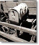 The Mailbox And The Wagon Metal Print