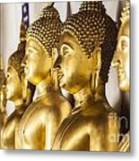 The Main Hall Of Wat Thardtong With Golden Buddha Statue Metal Print