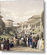 The Main Street In The Bazaar Metal Print