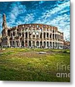 The Majestic Coliseum - Rome Metal Print by Luciano Mortula