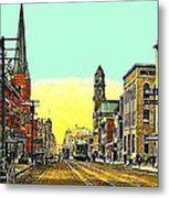 The Majestic Theatre And Commerce St. In Dallas Tx In 1919 Metal Print