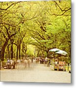 The Mall In Central Park New York City Fall Foliage Metal Print