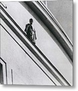 The Man In Love Is Saved From A Parapet Metal Print