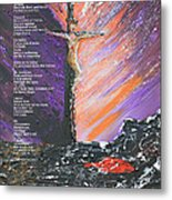 The Man On The Cross With Poem Metal Print