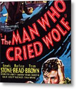 The Man Who Cried Wolf, Us Poster Metal Print