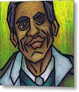 The Man With The Golden Voice Metal Print