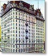 The Manhattan Hotel In New York City 1897 Metal Print