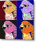 The Many Faces Of Taz Metal Print