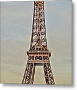The Many Faces Of The Eiffel Tower In Paris France Metal Print