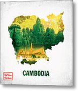 The Map Of Cambodia 2 Metal Print