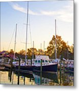 The Marina At St Michael's Maryland Metal Print