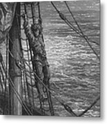 The Mariner Describes To His Listener The Wedding Guest His Feelings Of Loneliness And Desolation  Metal Print