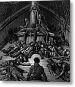 The Mariner Gazes On His Dead Companions And Laments The Curse Of His Survival While All His Fellow  Metal Print by Gustave Dore
