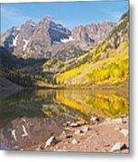 The Maroon Bells Near Aspen Colorado Metal Print
