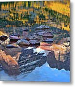 The Maroon Bells Reflected Metal Print
