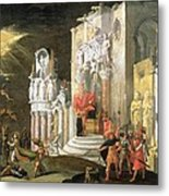 The Martyrdom Of St. Catherine, 17th Metal Print