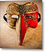 The Mask On The Floor Metal Print