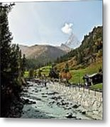 The Matter Vispa And The Matterhorn Metal Print