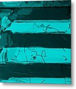 The Max Face In Turquois Metal Print