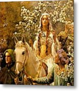 The Maying Of Queen Guinevere Metal Print