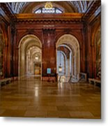 The Mcgraw Rotunda At The New York Public Library Metal Print