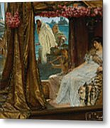 The Meeting Of Antony And Cleopatra  41 Bc Metal Print