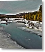 The Melting Of The Moose River In The Adirondacks Metal Print