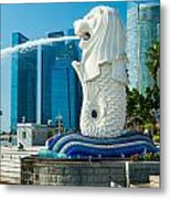 The Merlion  Fountain - Singapore. Metal Print