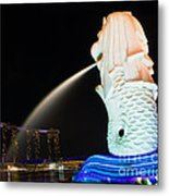 The Merlion - Singapore Metal Print by Pete Reynolds