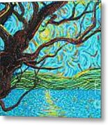The Mermaid Tree Metal Print