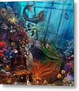 The Mermaids Treasure Metal Print