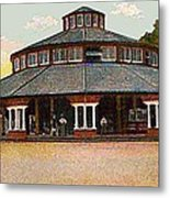 The Merry-go-round In Willow Grove Park Pa Around 1910 Metal Print