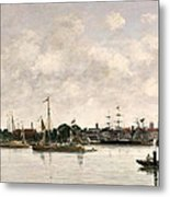 The Meuse At Dordrecht Metal Print