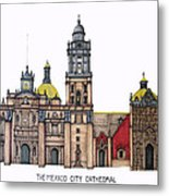 The Mexico City Cathedral Metal Print