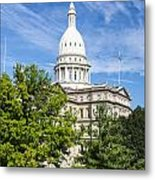 The Michigan Capitol Building Metal Print